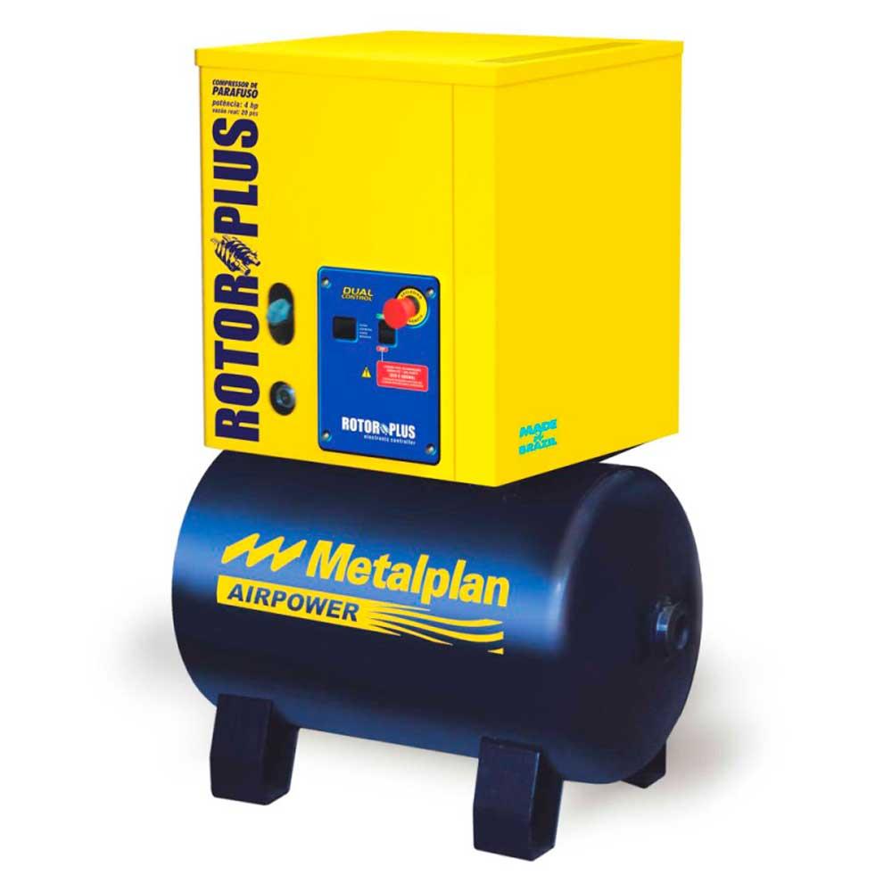Compressor de Parafuso 4,0 HP 220V Trifásico 7 BAR METALPLAN