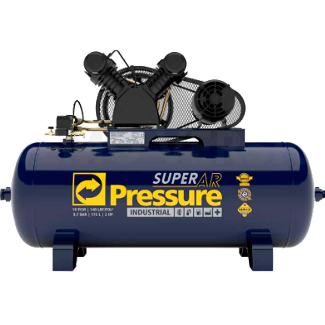 Compressor Pressure Superar 10 pes 10/175l. Motor 2CV Mono WEG