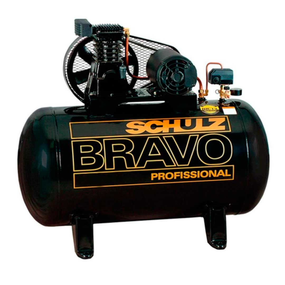 Compressor Schulz Bravo 10 pes CSL10/100l Motor 2cv Mono Weg