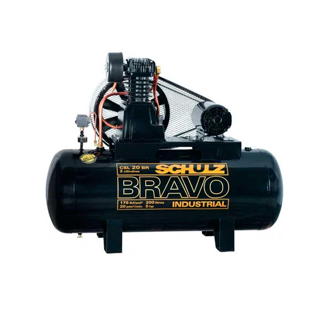 Compressor Schulz Bravo 20 pes CSL20/200l Motor 5cv Trifasico Weg