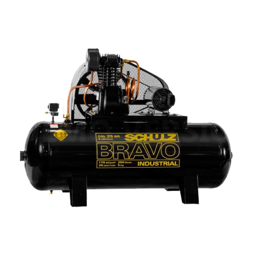 Compressor Schulz Bravo 25 pes CSL25/250l Motor 5cv Trifasico Weg