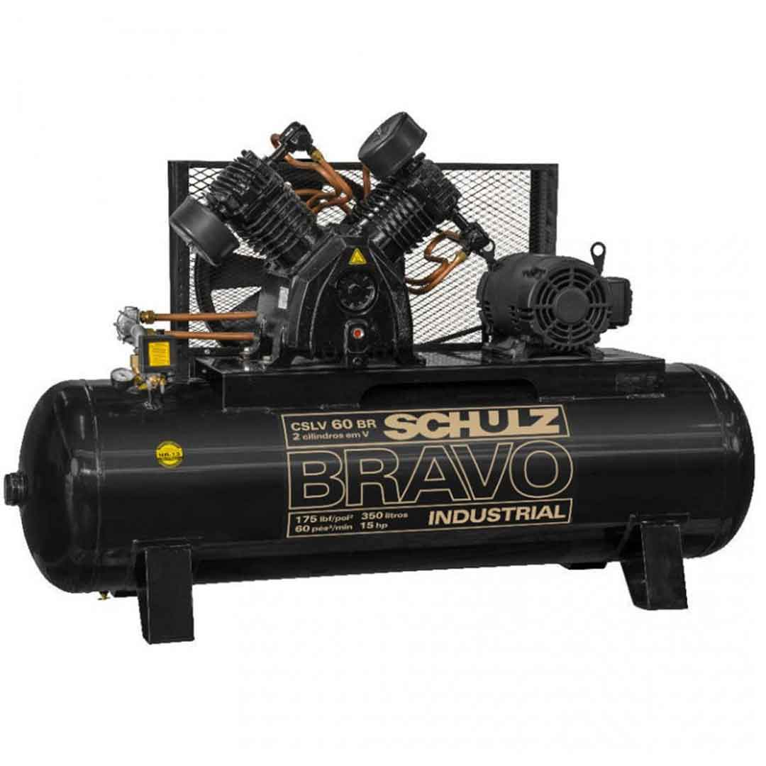 Compressor Schulz Bravo CSLV60/350l Motor 15cv TRI WEG 380/660v