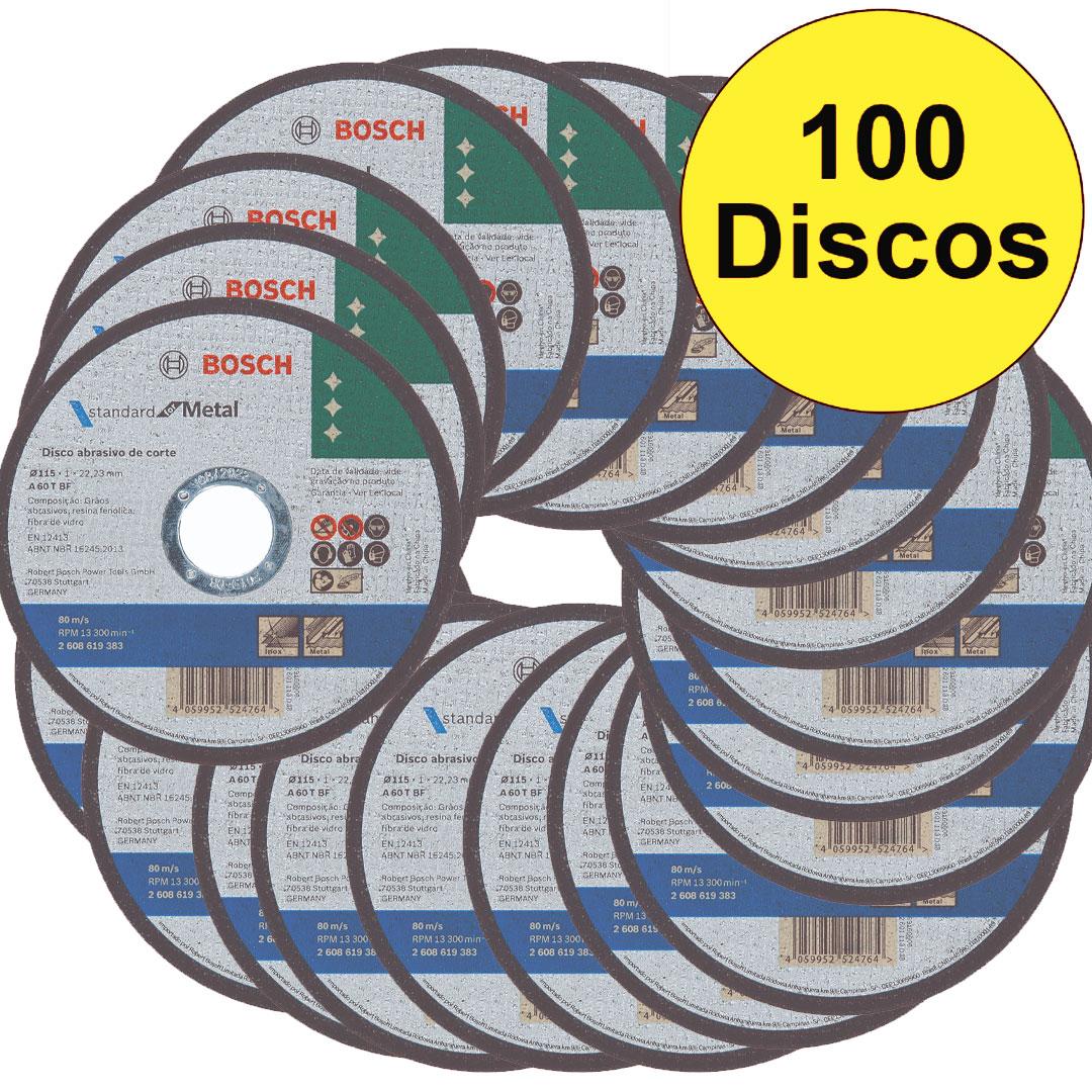 Cx com 100 Disco de Corte Metal 4.1/2