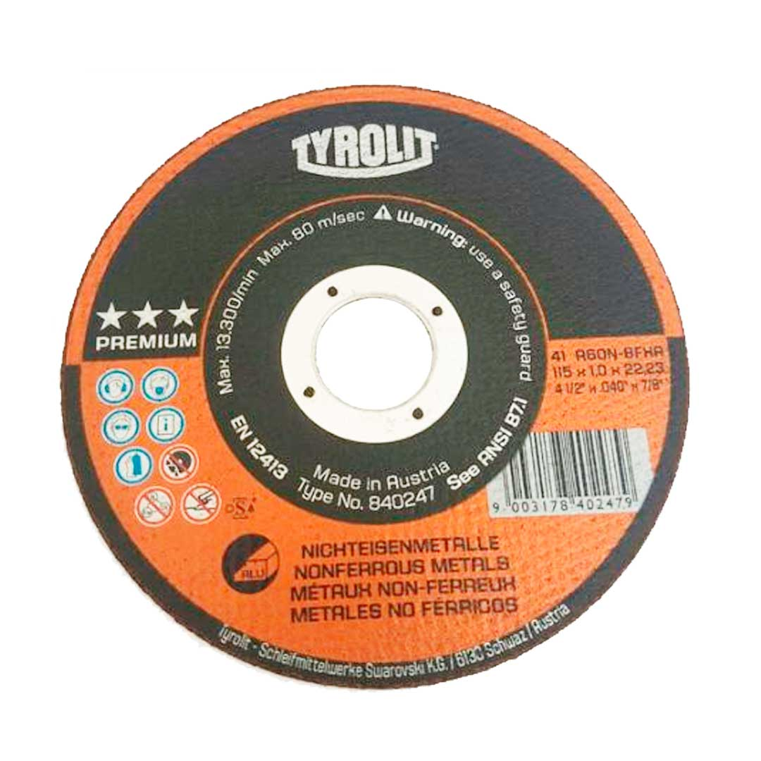 Disco De Corte Aluminio 4.1/2