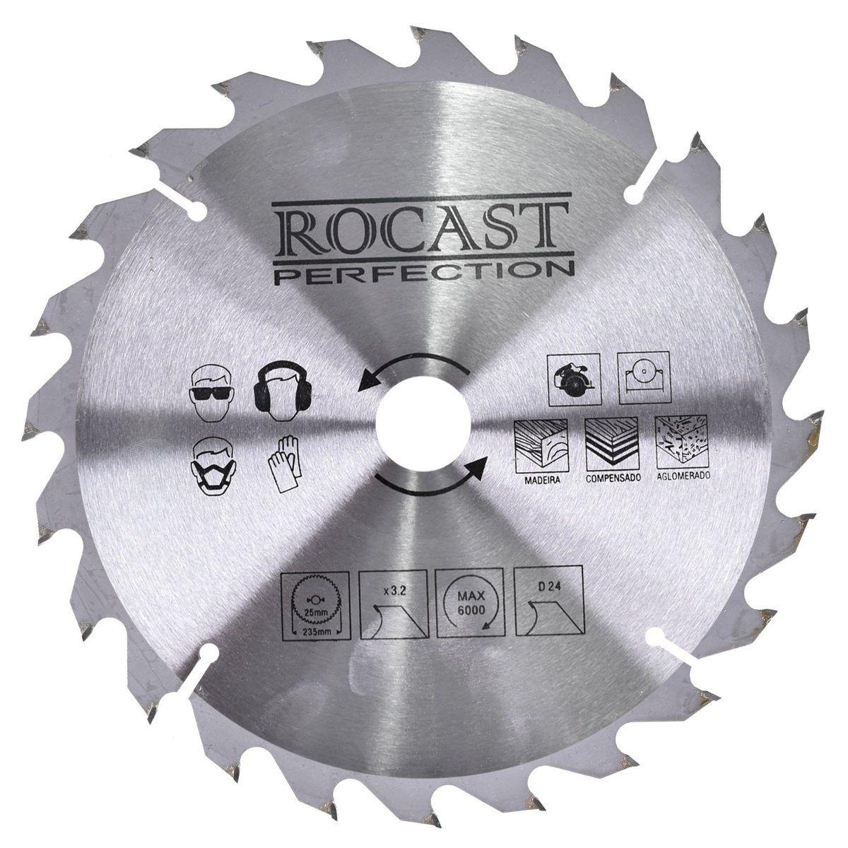 """Disco De Serra Circular 235mm (9.1/4"""") 24d - Rocast 35,0004"""