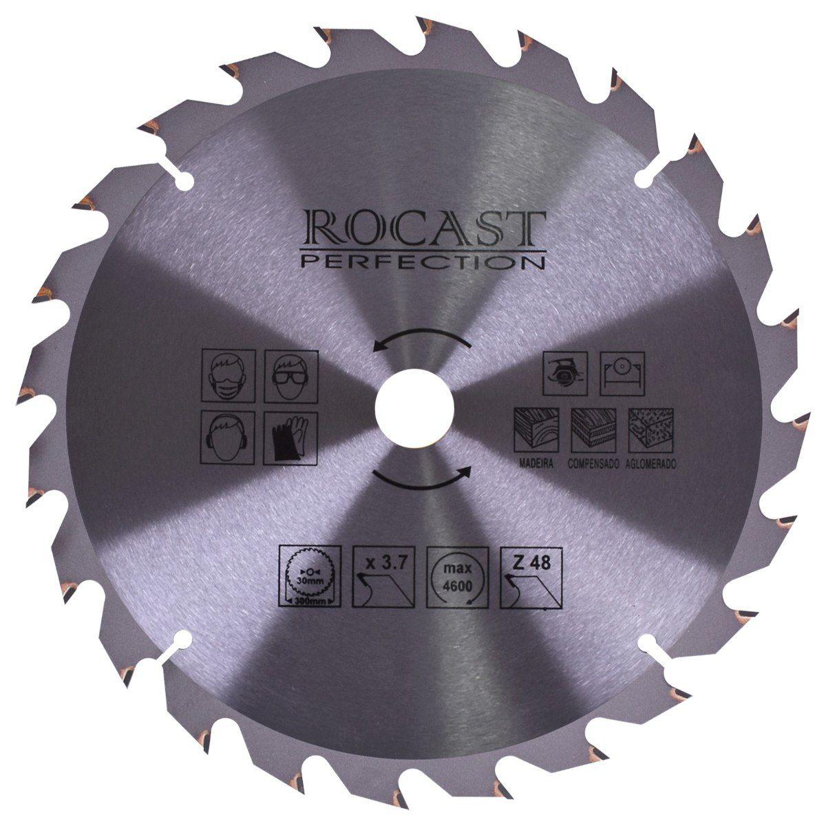 """Disco De Serra Circular 300mm (12"""") 48d - ROCAST 35,0013"""