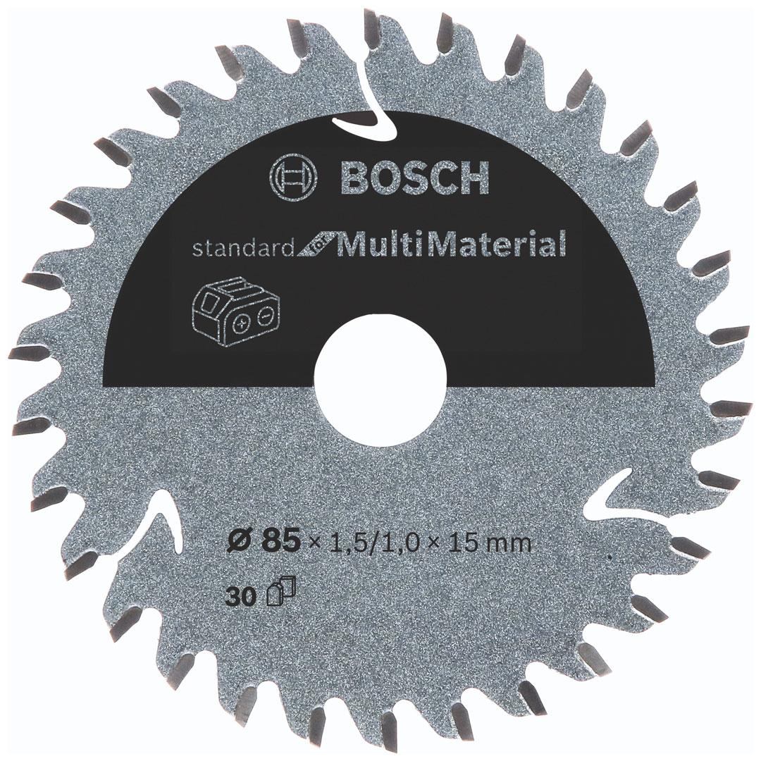 Disco de Serra Circular 85mm 30 Dentes Multimaterial Bosch Standard 2608837752