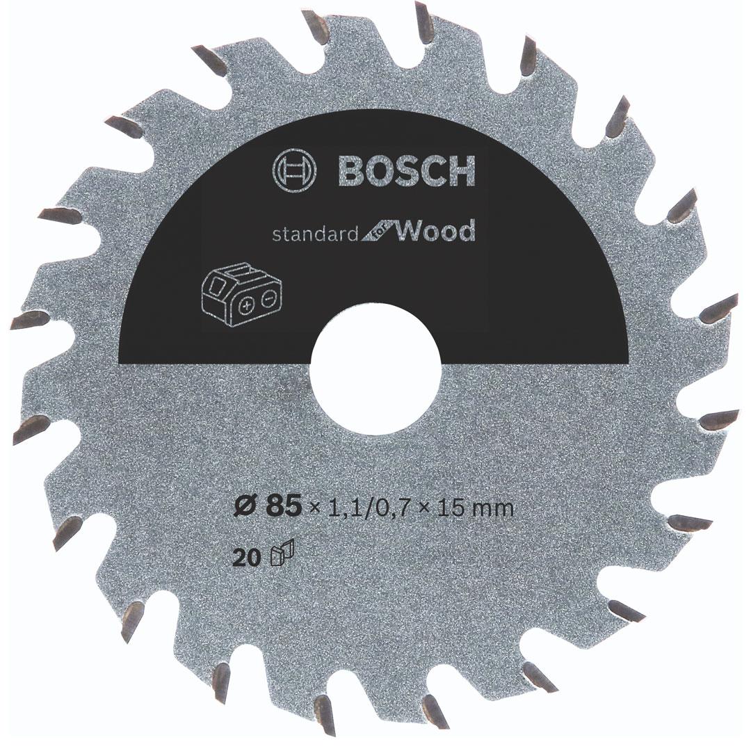 Disco de Serra Circular 85mm 20 Dentes para Madeira Bosch Standard For Wood 2608837666