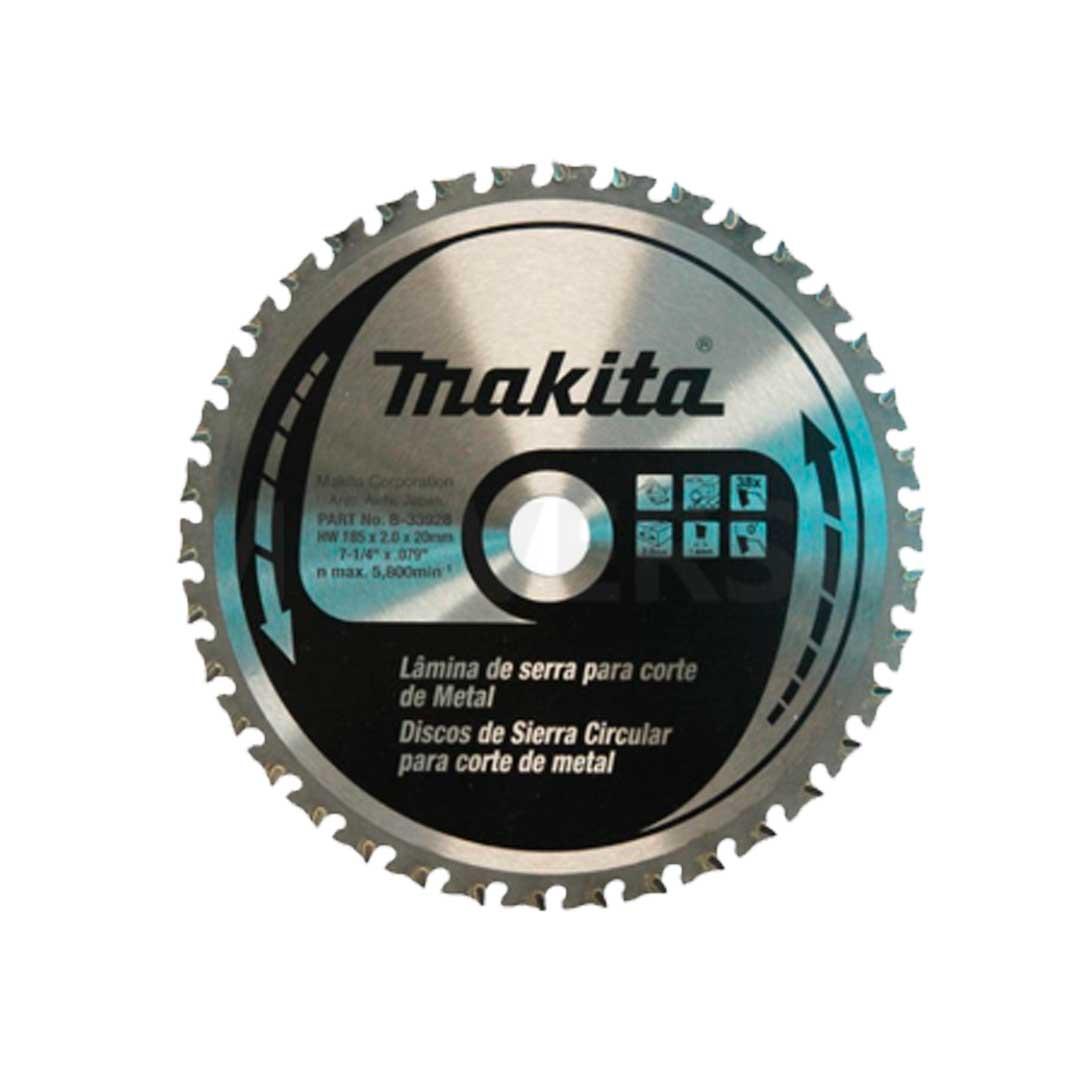 Disco De Serra P/ Cortadora Metal Makita 4131 185X20X70D B-33940