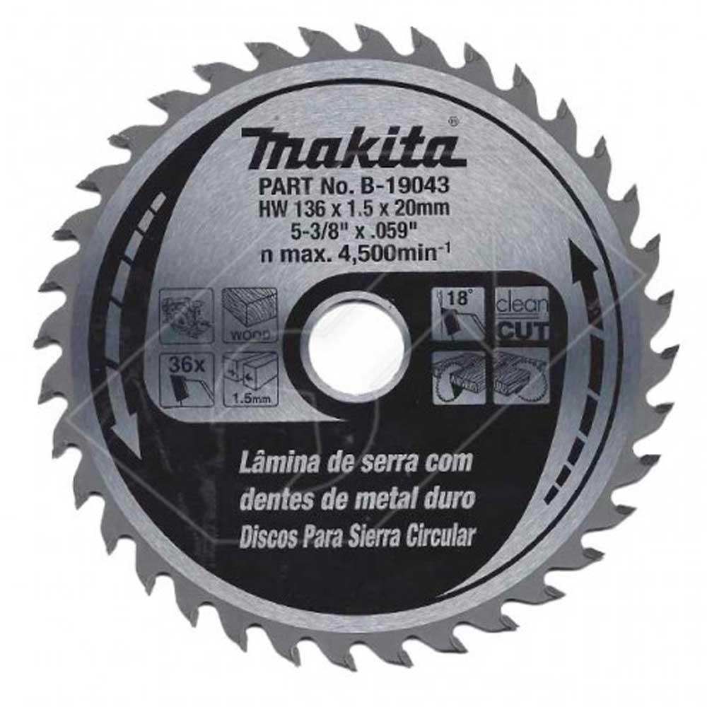 Disco de Serra Para Madeira B-19043 136mm 36 Dentes Makita