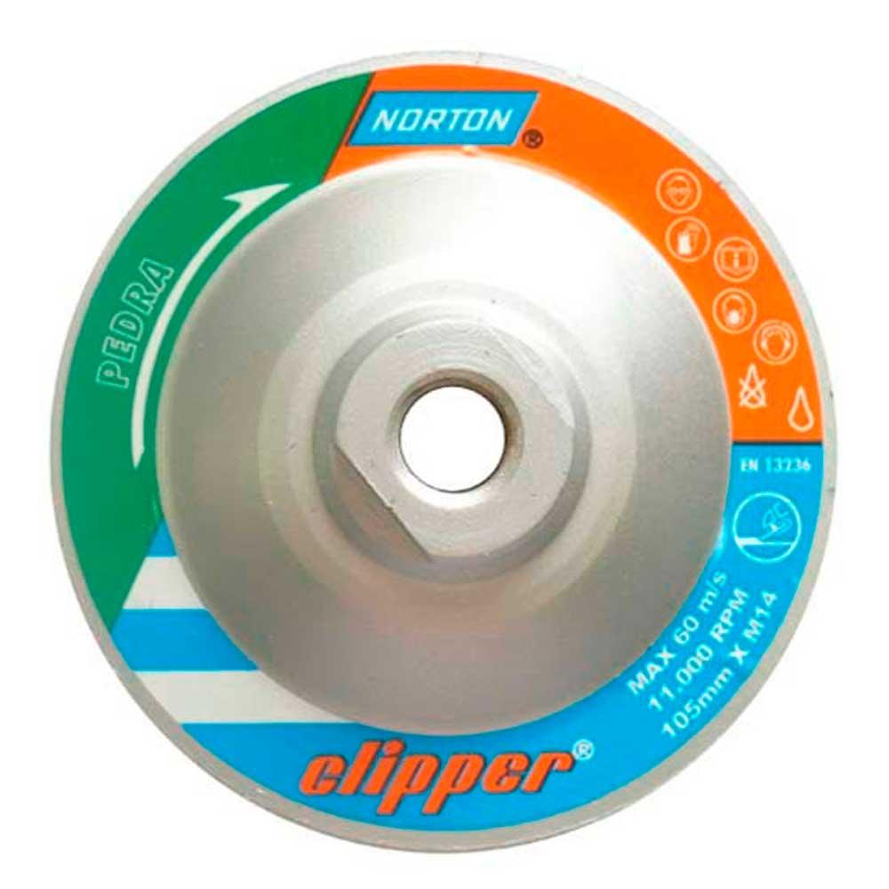 """Disco Desbaste Diamantado 4.1/2"""" Rosca M14 Clipper - Norton"""