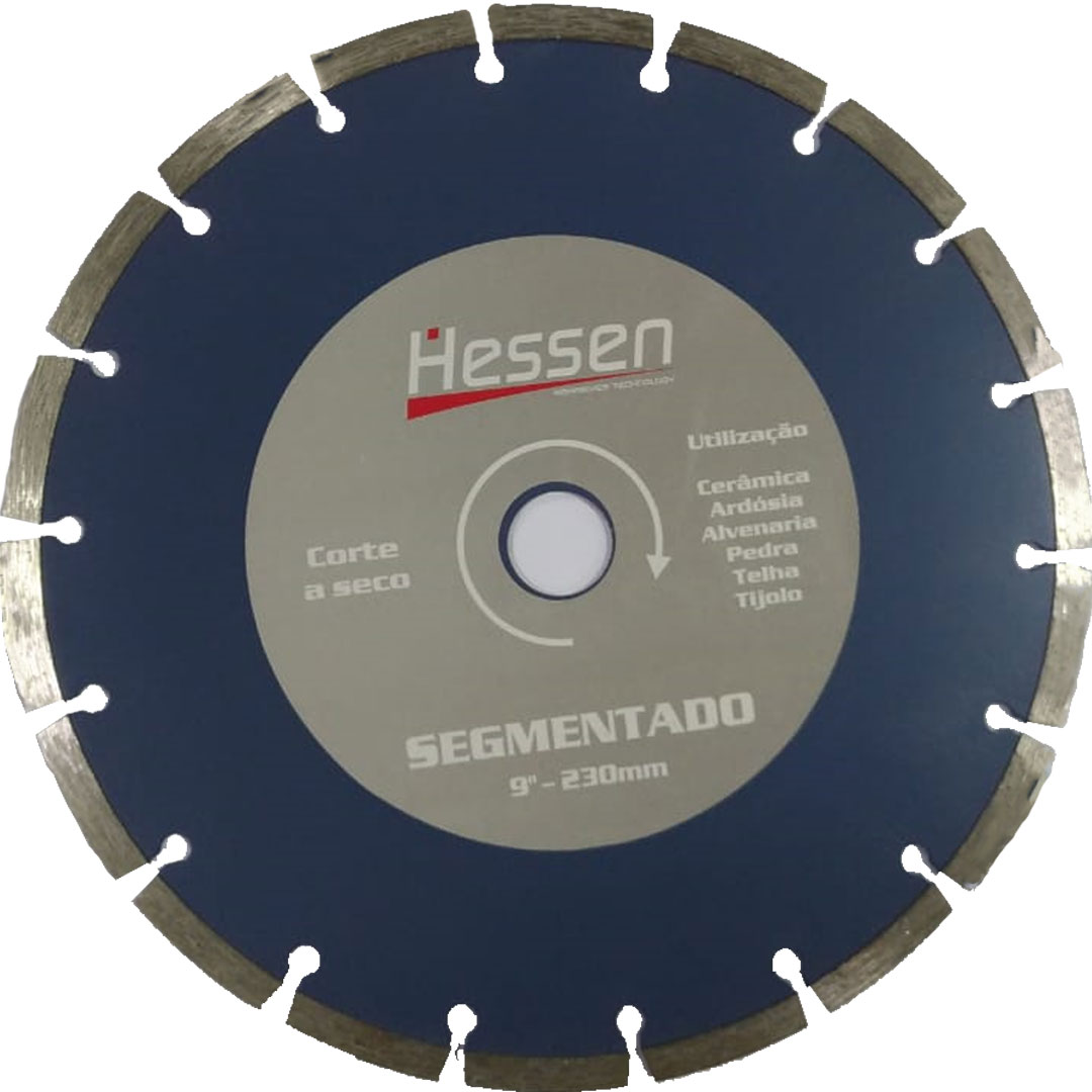 "Disco Diamantado 9"" (230mm) SEGMENTADO HESSEN"