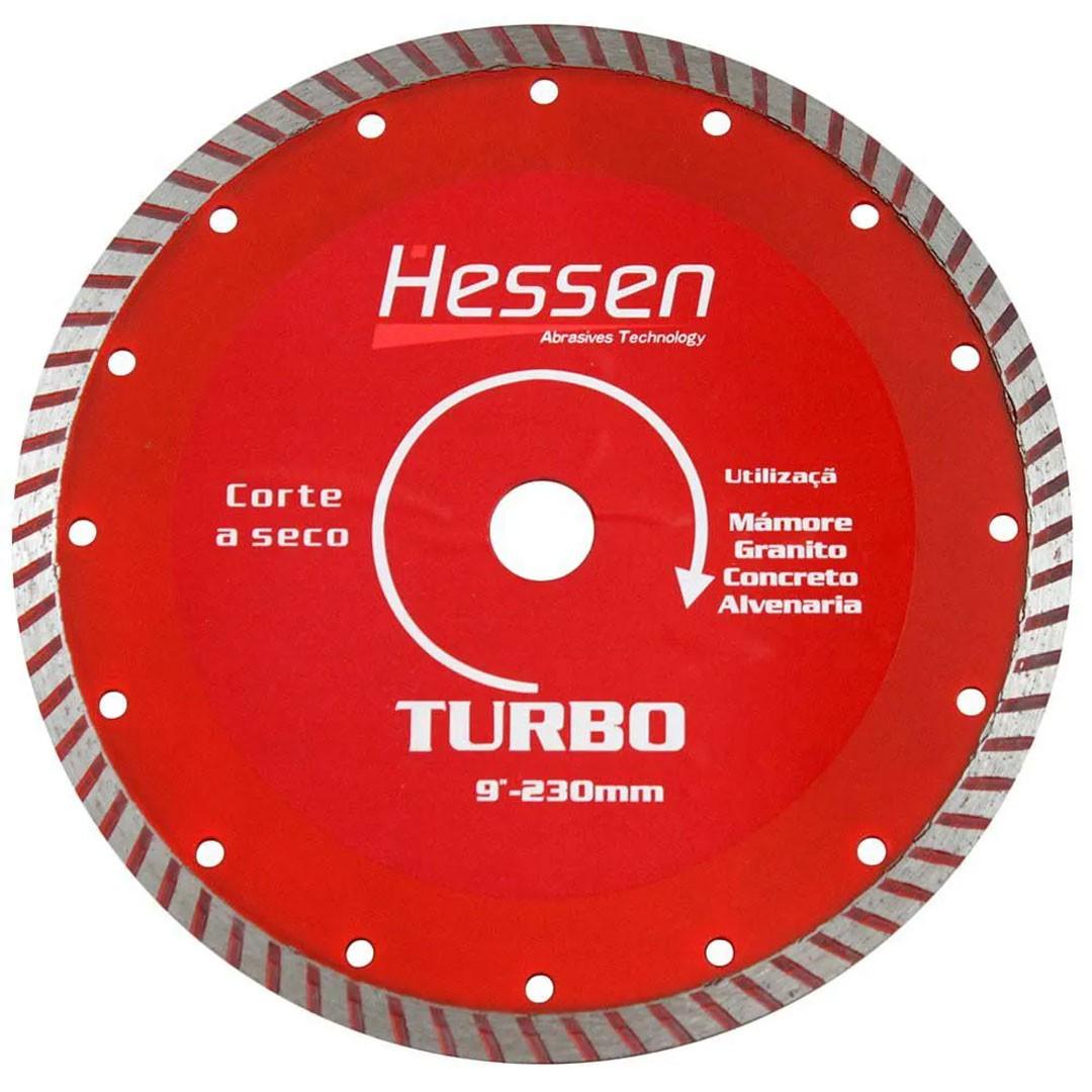 """Disco Diamantado 9"""" (230mm) TURBO HESSEN"""