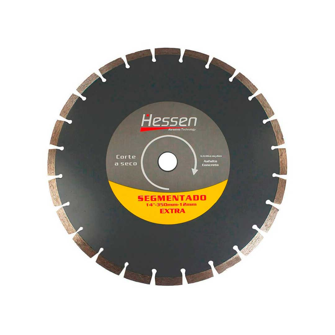 "Disco Diamantado Segmentado 350mm 14"" Hessen"