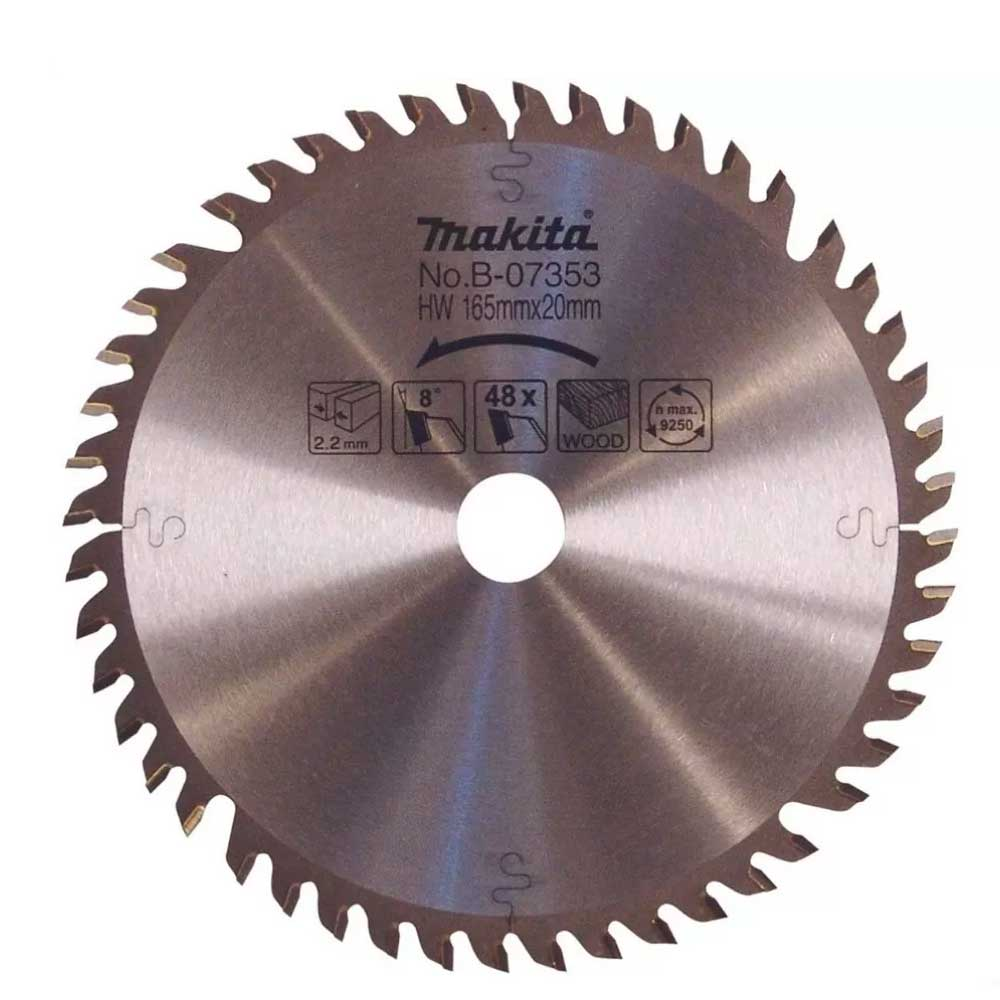 Disco para Serra Circular 165 mm (SP6000) 48 Dentes - B-07353 - Makita