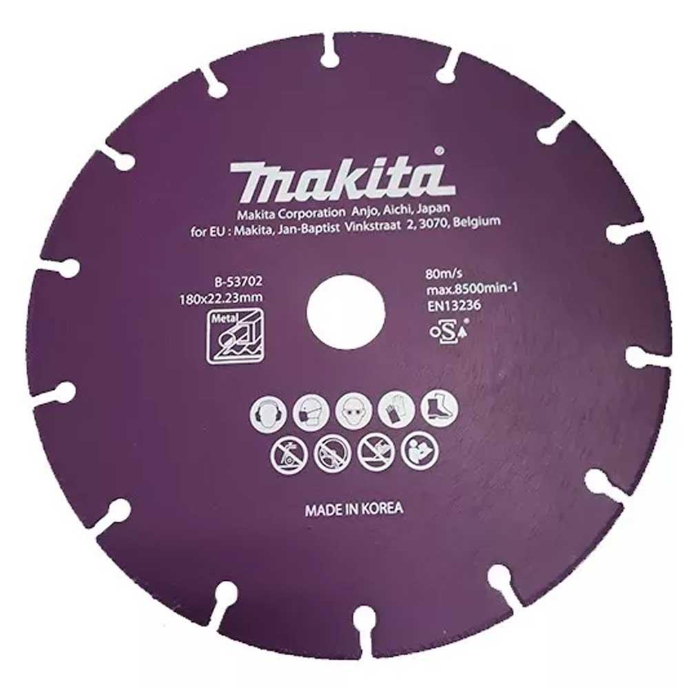 Disco Diamantado para Corte Metal 180mm B-53702- Makita