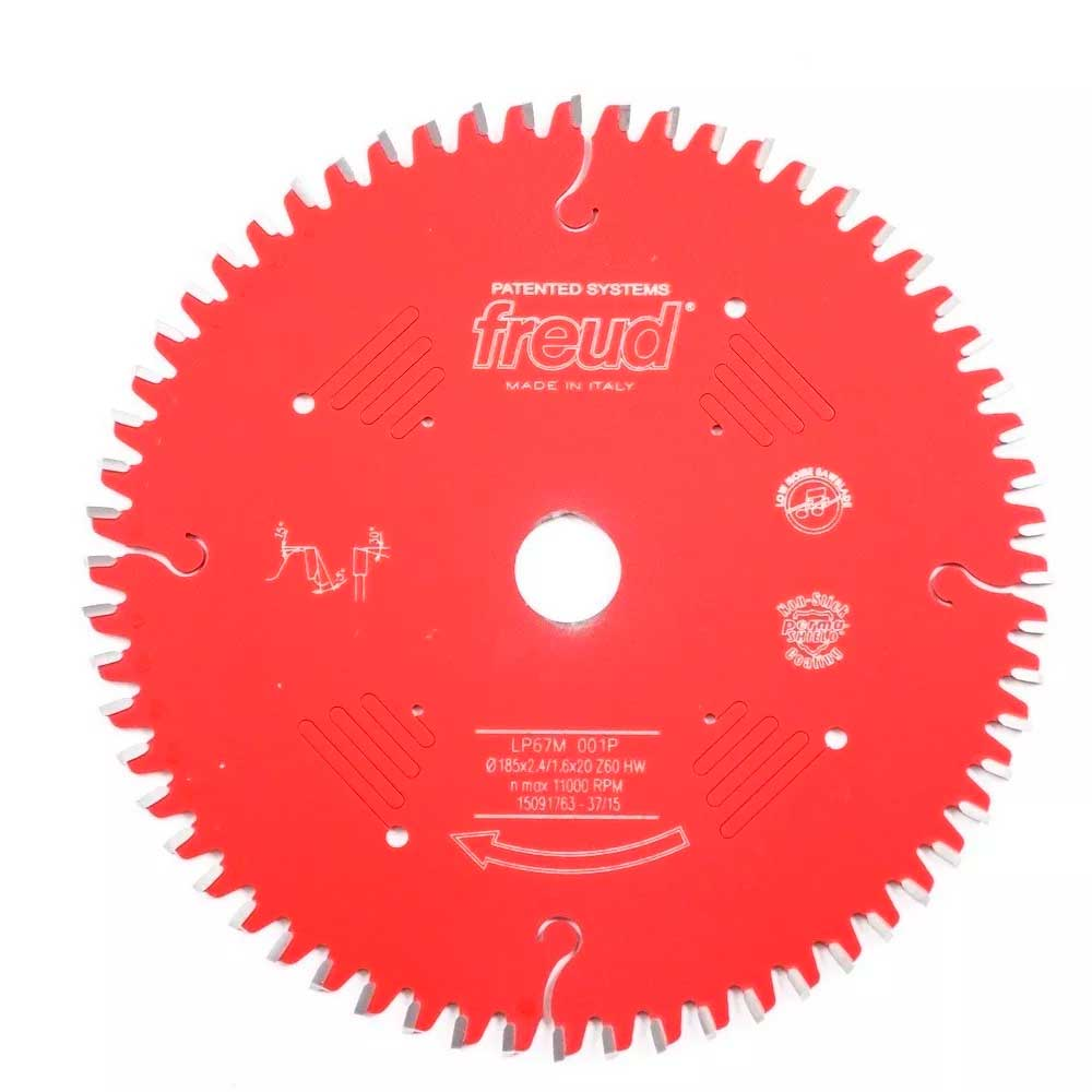 Disco Serra Circular Mdf Piranha 60d 185mm 7.1/4 Lp67m-001 Freud