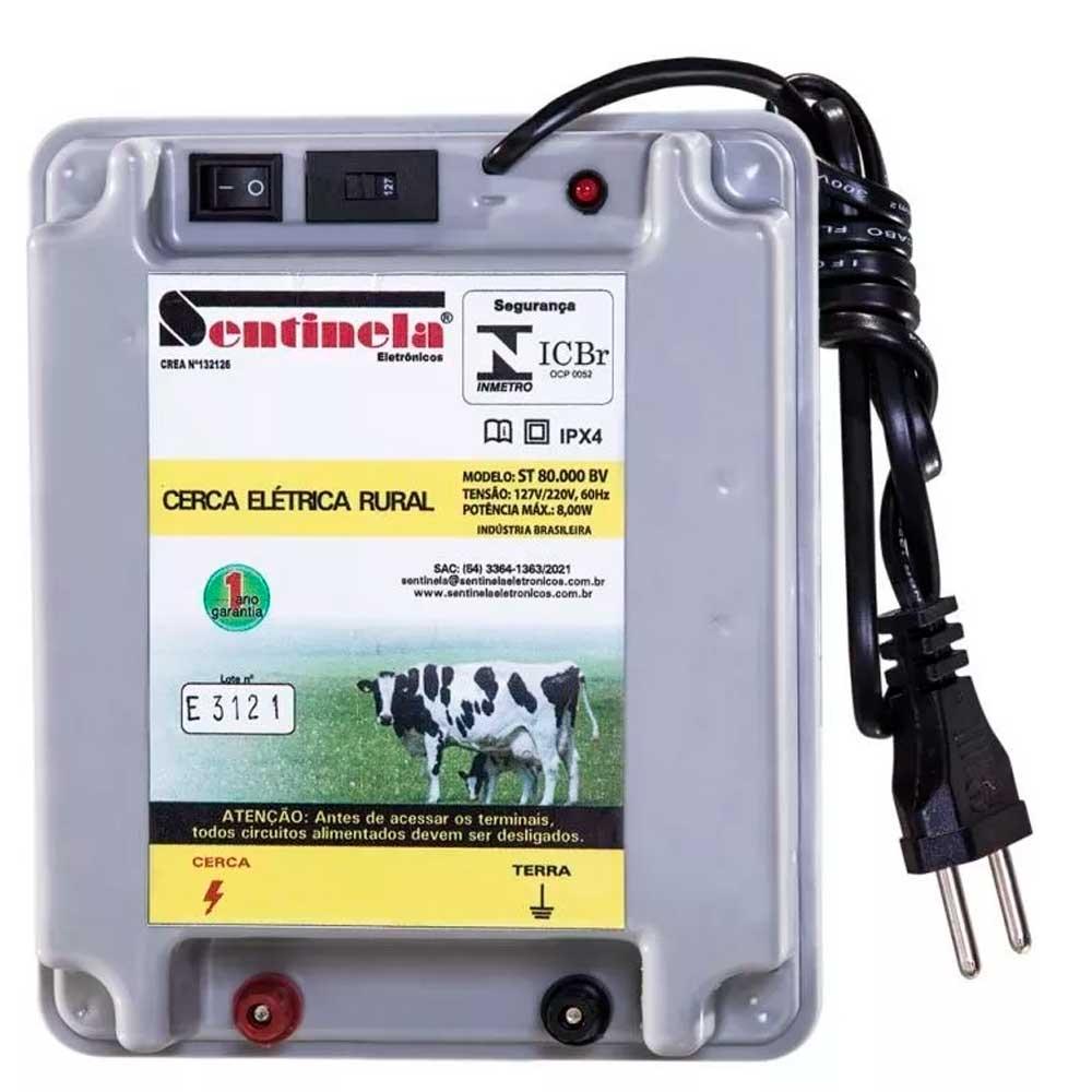 Eletrificador De Cerca Rural Sentinela 80.000 Bv