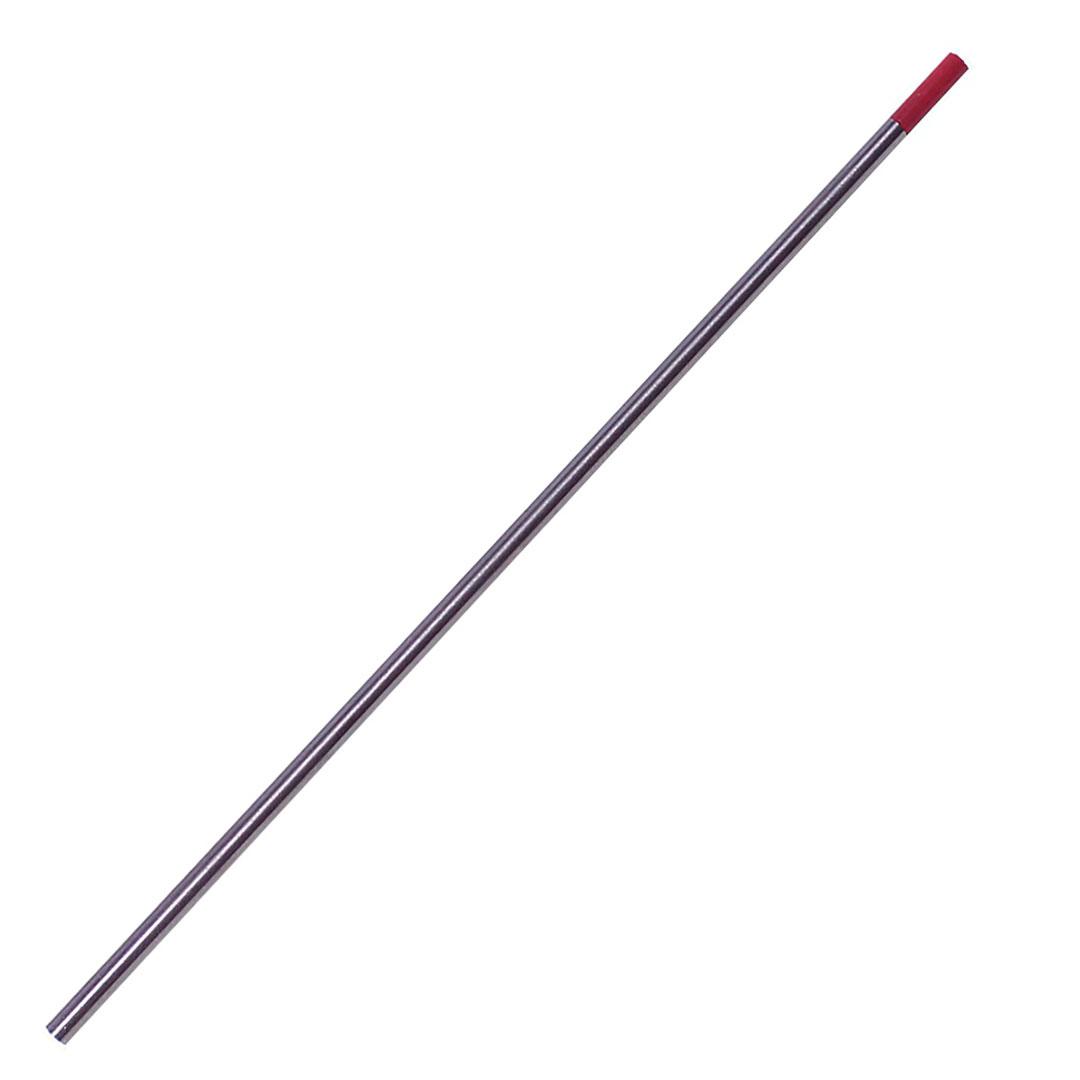 Eletrodo de Tungstênio Ponta Vermelha Com Tório 3,2mm AWS EWTH-2 - Para TIG D/C