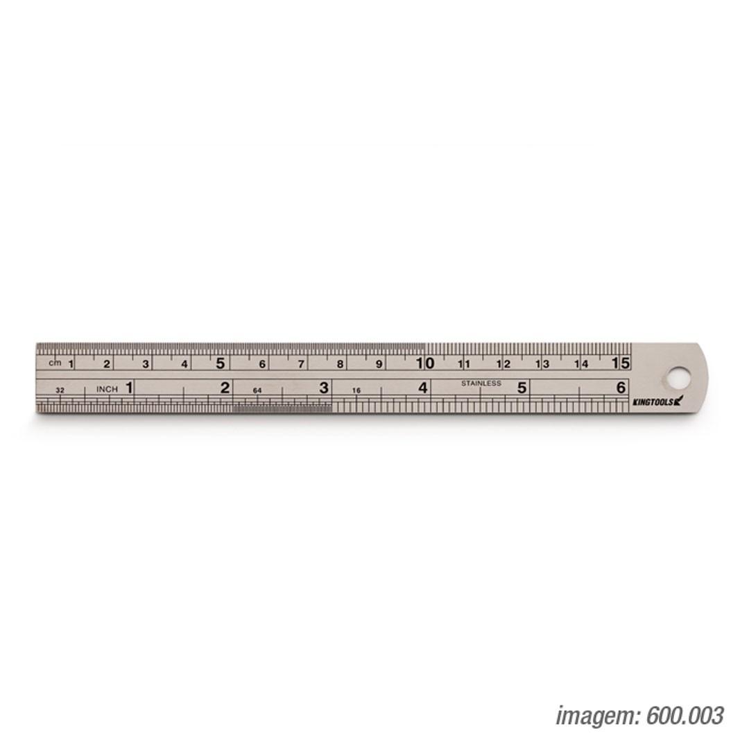 Escala De Aço Inox 150mm/6