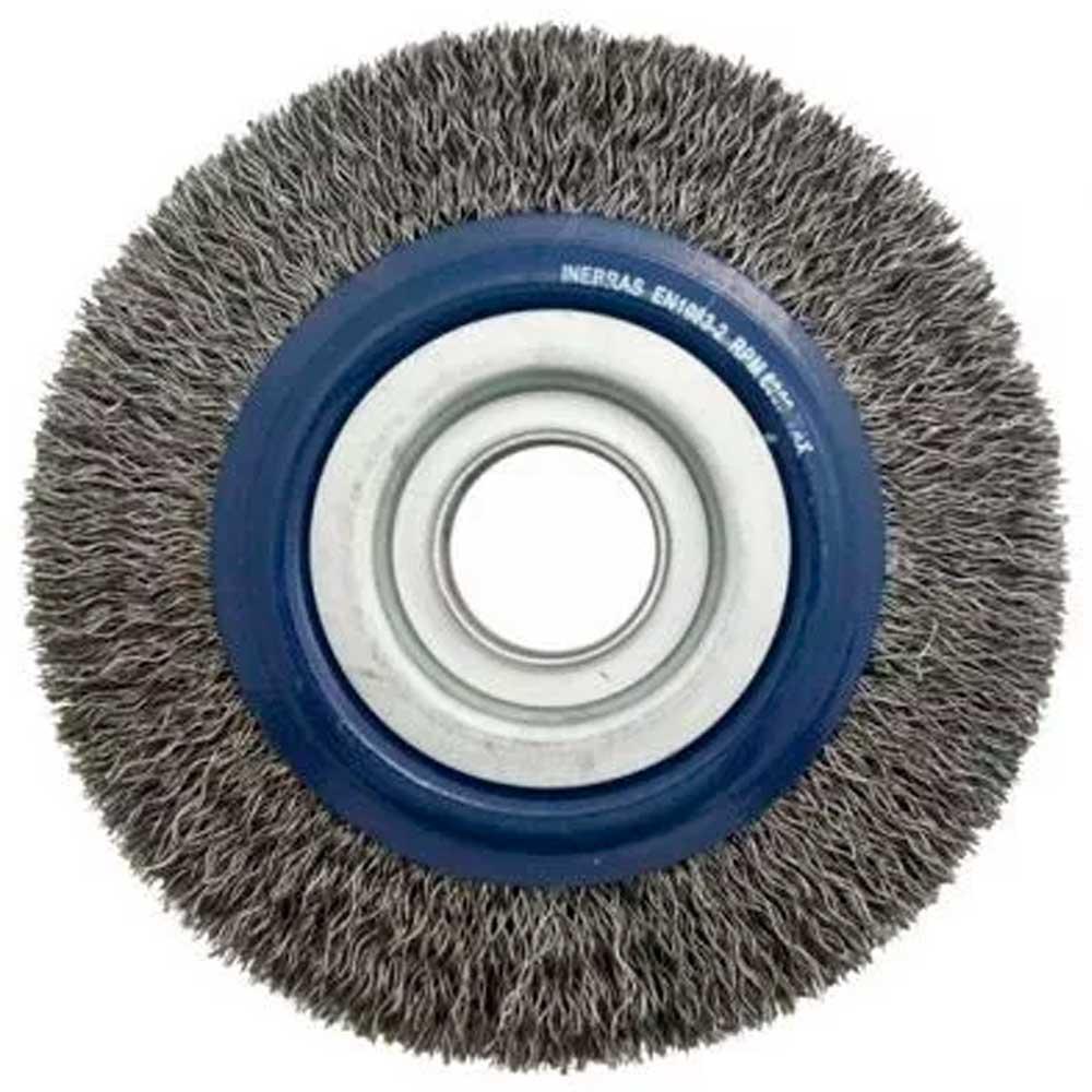 Escova Circular Aço Carbono 6x3/4 C/ Buchas P/ Rebolo - Inebras