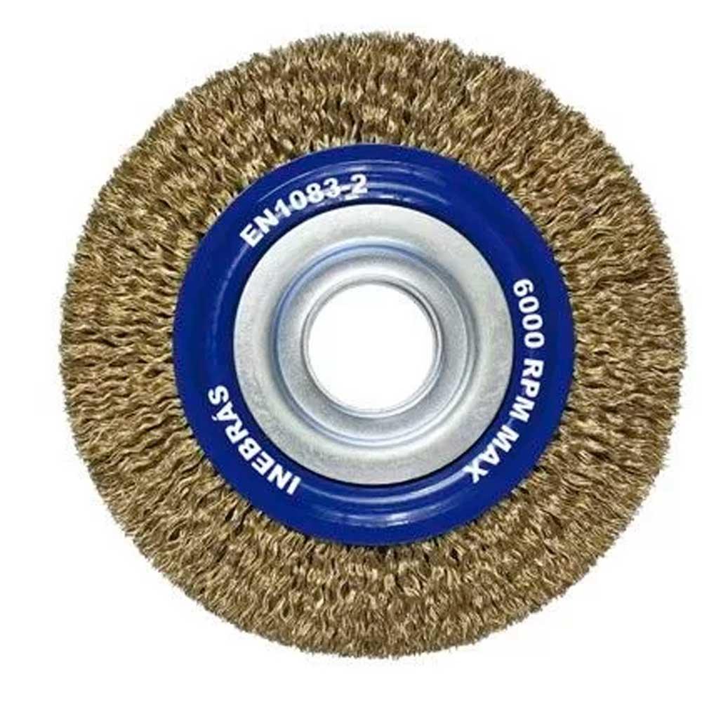 "Escova Circular de Aço Ondulada de 6 x 1 x 1.1/4"" Fios de 0,30 mm 06655 - INEBRAS"
