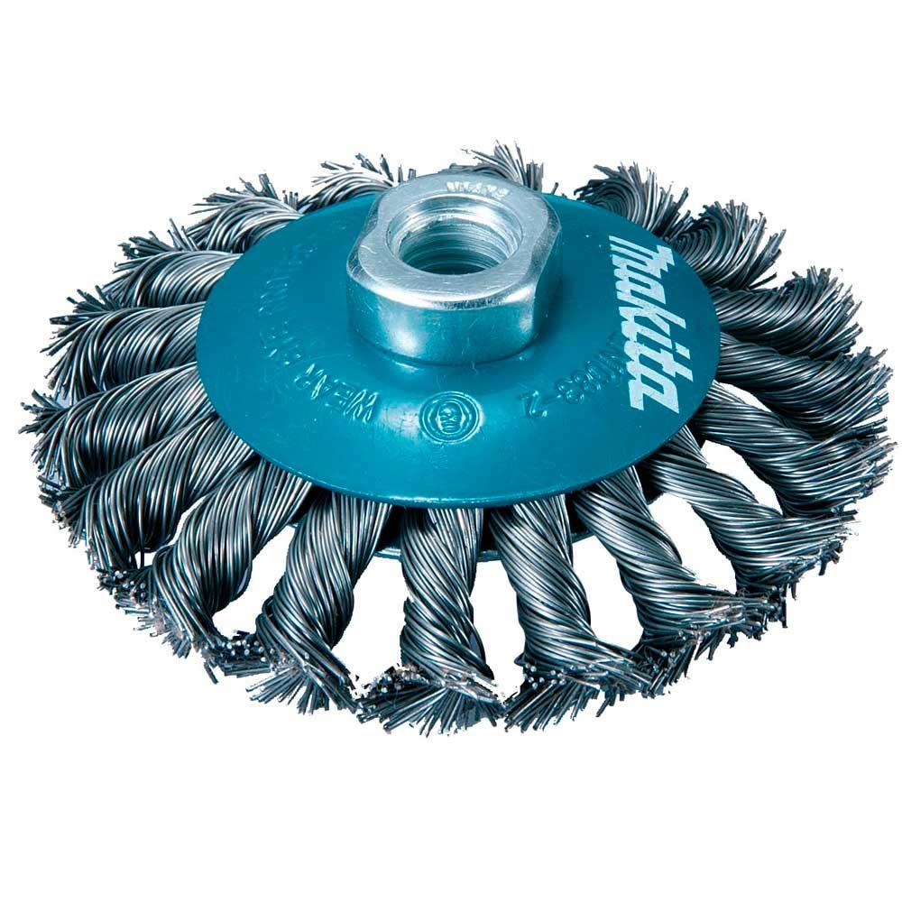 Escova de aço torcida tipo cônica 4 D-39861- MAKITA