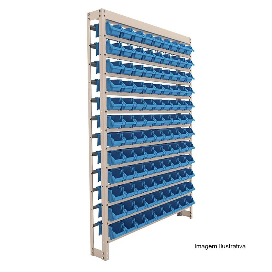 Kit Estante Gaveteiro Organizador com 108 Gavetas Empilháveis Nr. 3 Azul