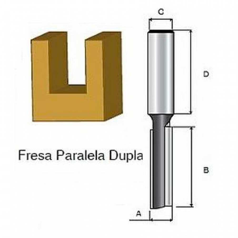 "Fresa Paralela Dupla 1/4"" X 3/8"" D-01404 - Makita"