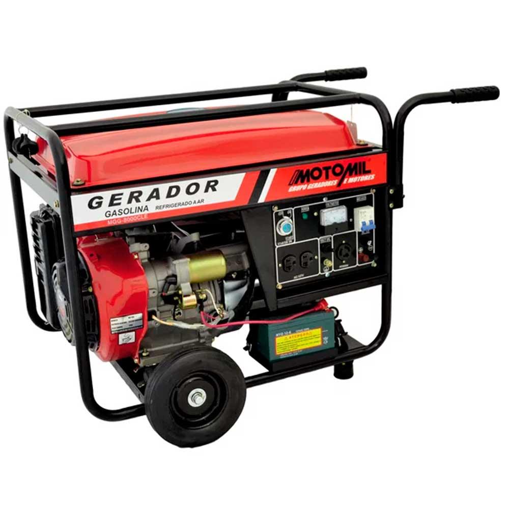 Gerador Gasolina 4 Tempos 13 HP 8.000W 8,0KVA MGG-8000CLE Bivolt - Motomil