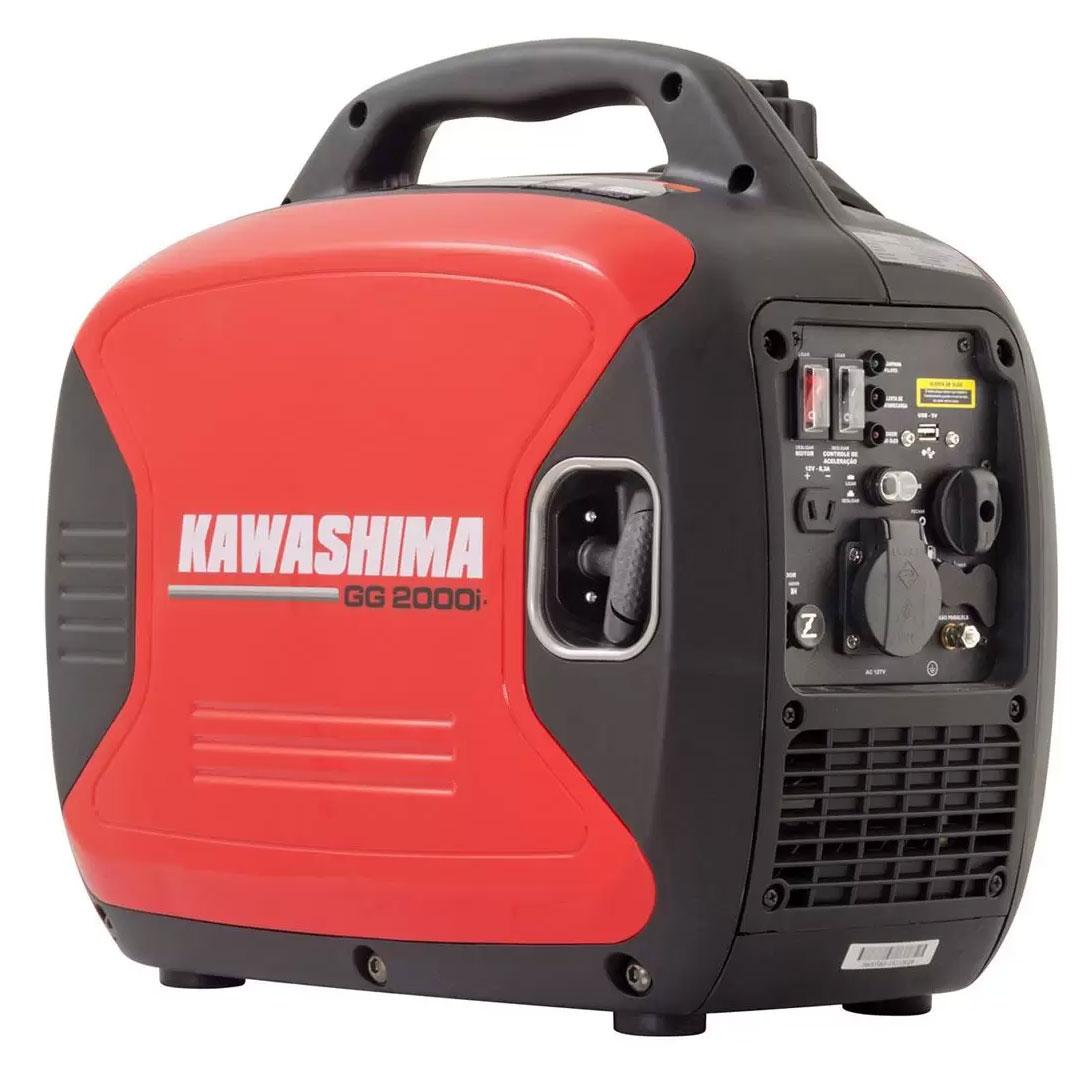 Gerador a Gasolina Inverter Silencioso Portátil Digital 2.000W com USB 220VAC GG 2000i KAWASHIMA 56-00570