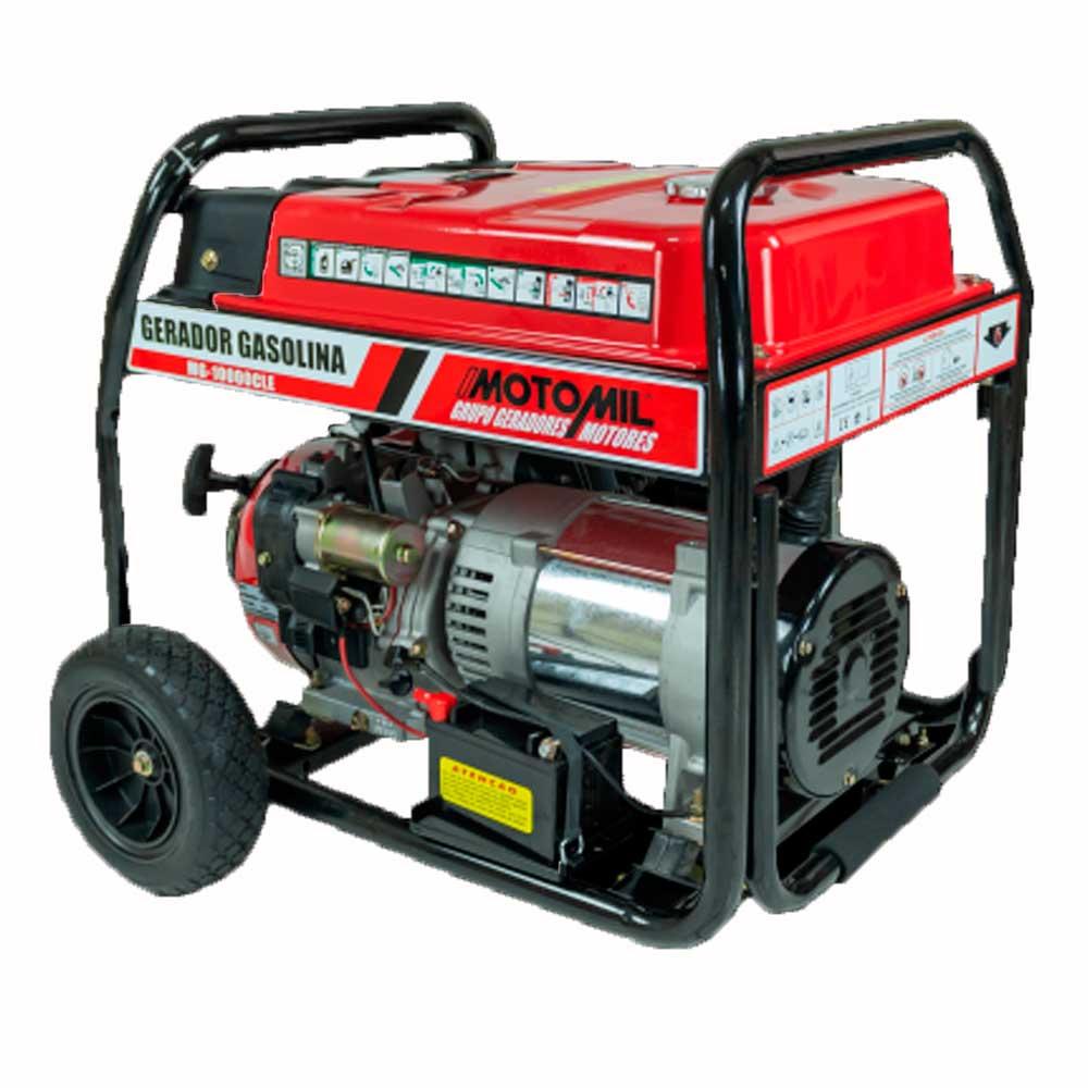 Gerador Gasolina 10000w Mg10000Cle 10,0Kva - Mono. 220V -  Motomil
