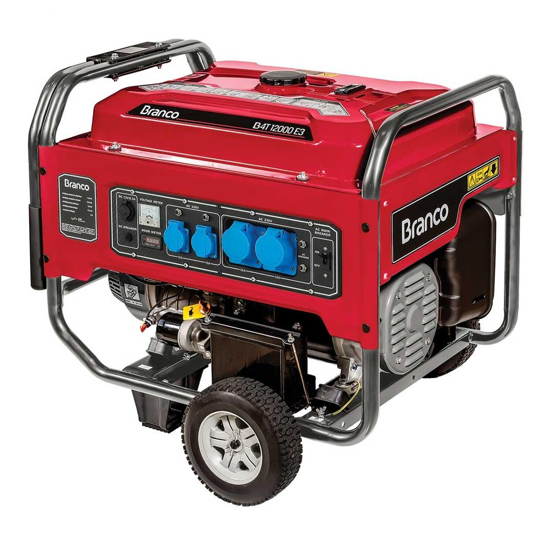 Gerador Gasolina 12000w 12vdc 12v Branco B4T-12000E3 90315490