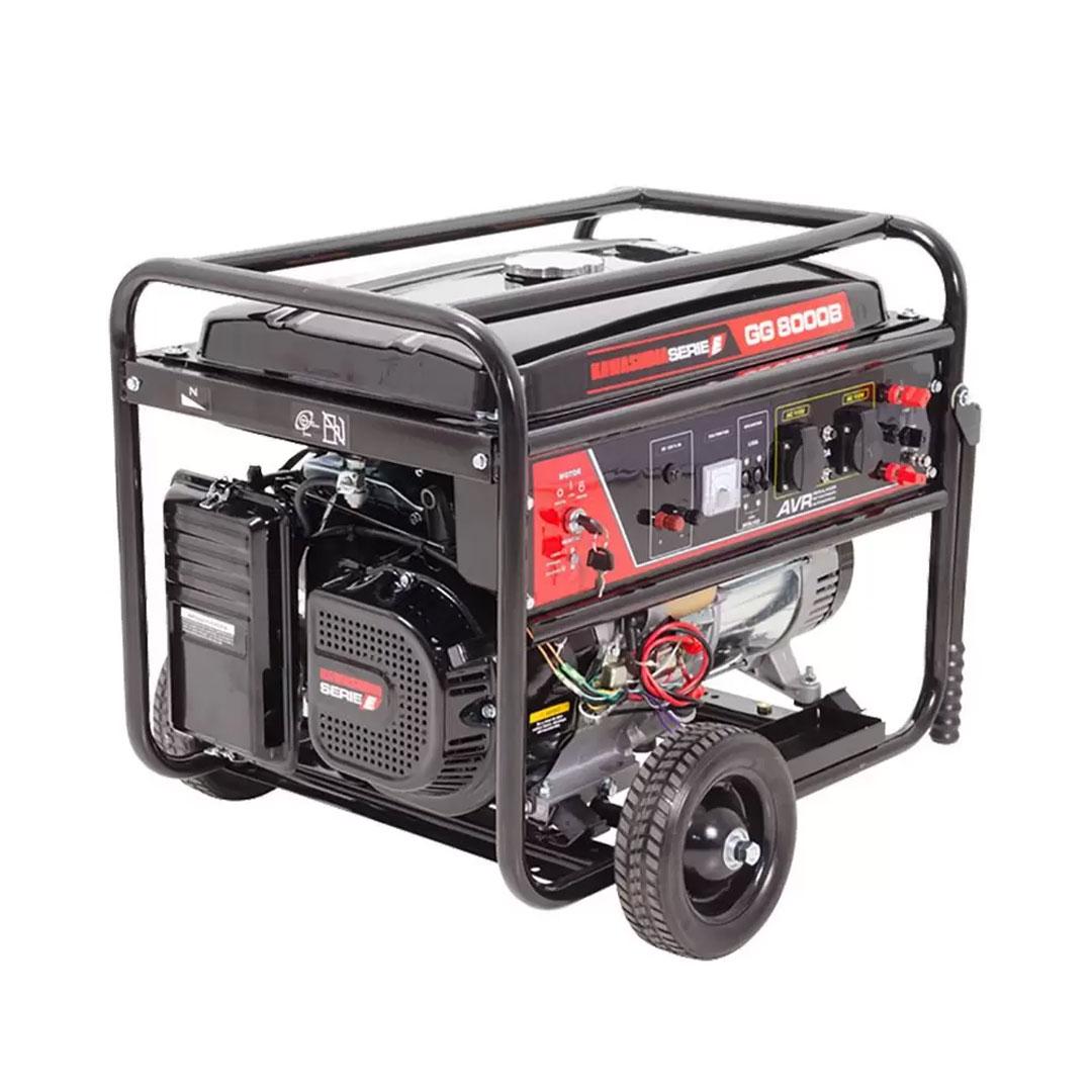 Gerador Gasolina GG8000B 6.5KWA Partida Elétrica Monofásico 110V/ 220V KAWASHIMA 56-70140