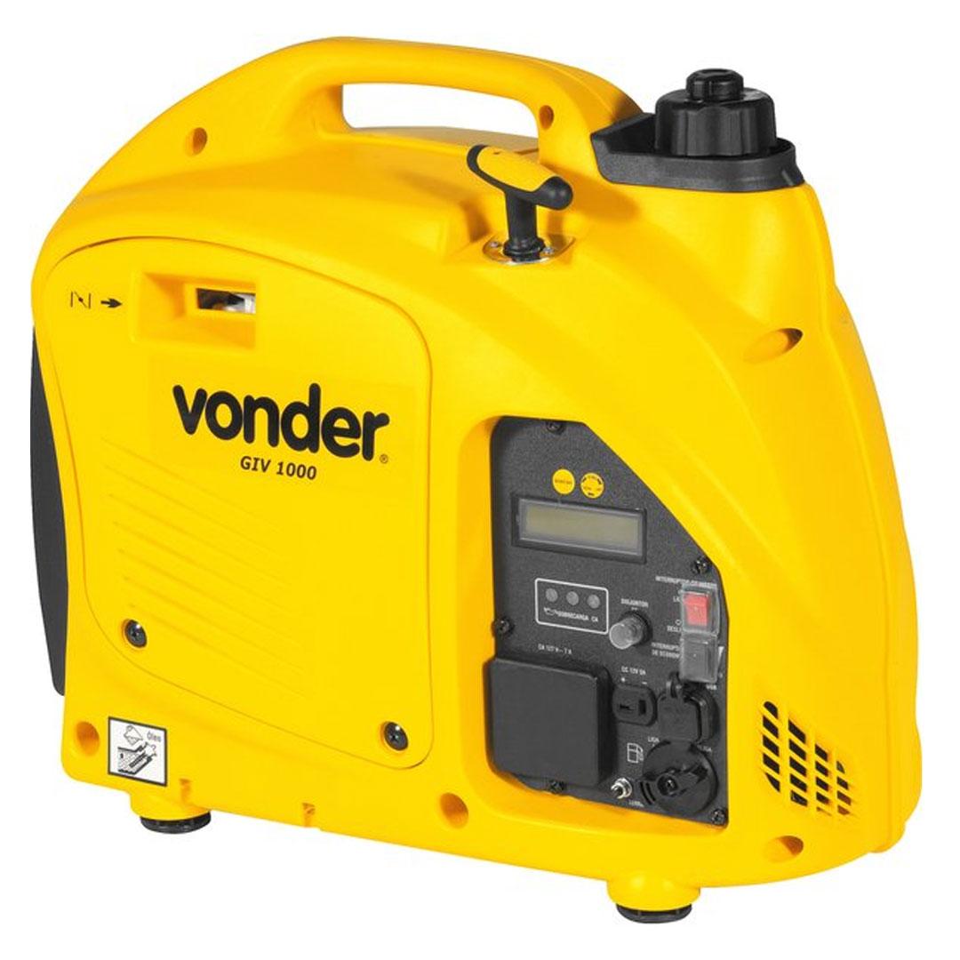 Gerador Inverter Digital a Gasolina 1000W 12VDC 12V VONDER GIV1000 68.53.100.220