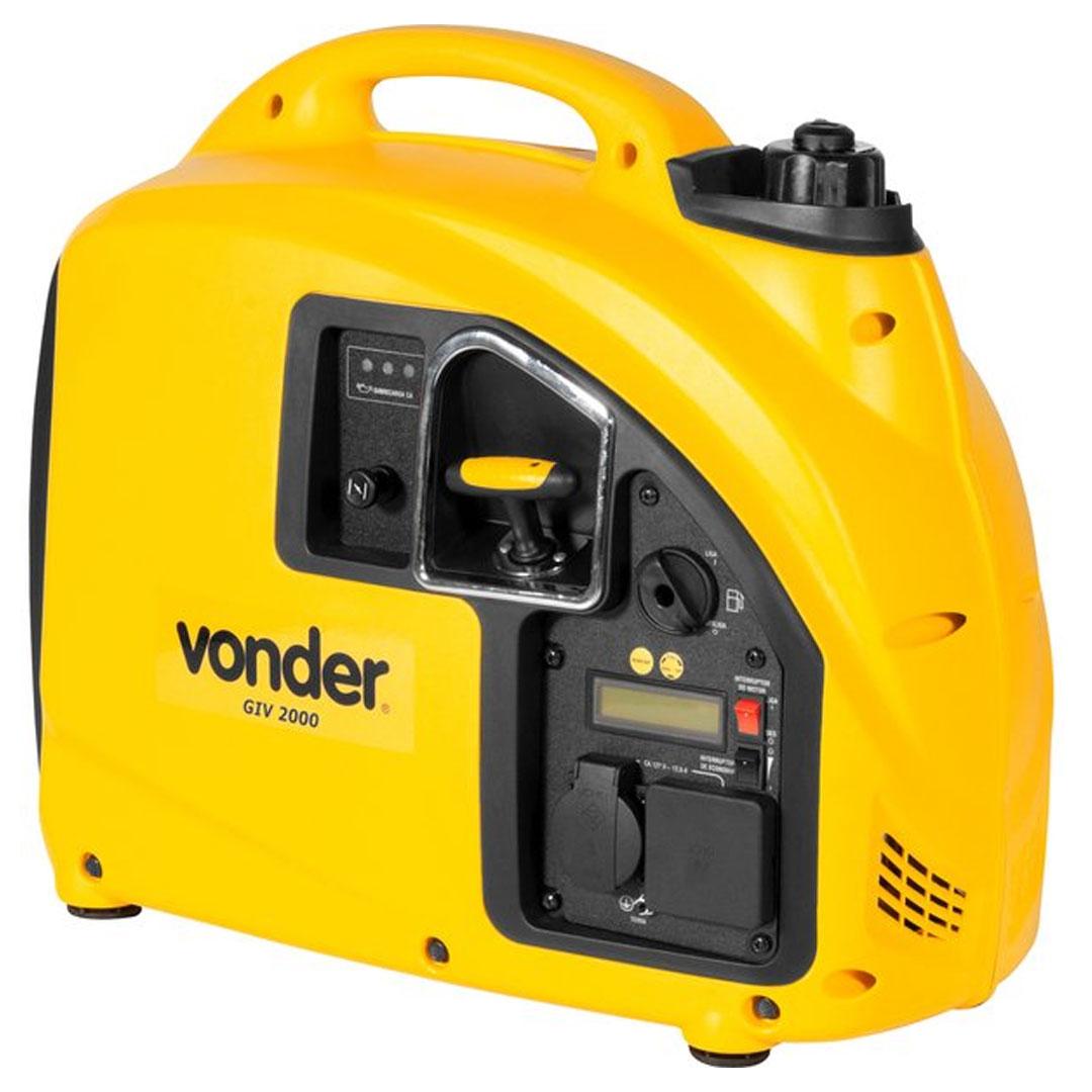Gerador Inverter Digital a Gasolina 2000W 12VDC 12V VONDER GIV2000 68.53.200.220