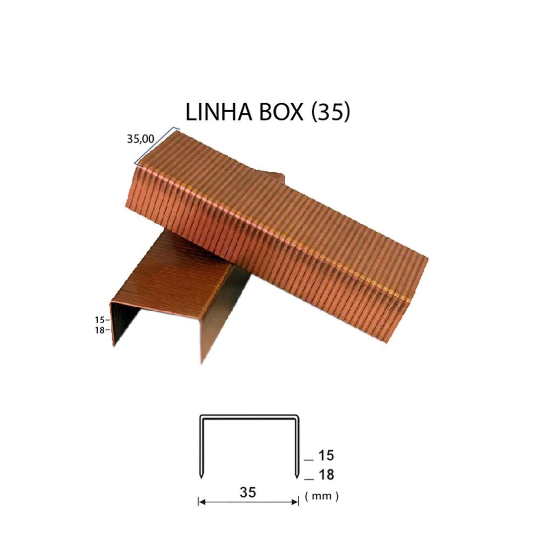 Grampo para Fechamento de Caixa de Papelão Box 35/15mm Guara com 2.000 unid.