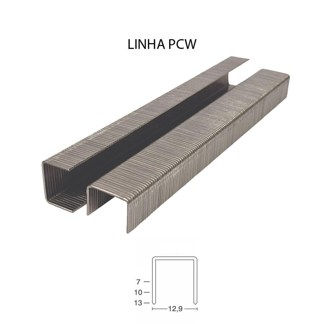 Grampo PCW 50 13mm para Grampeador Pneumático PCW 50/13 Guara com 14.560 unid.