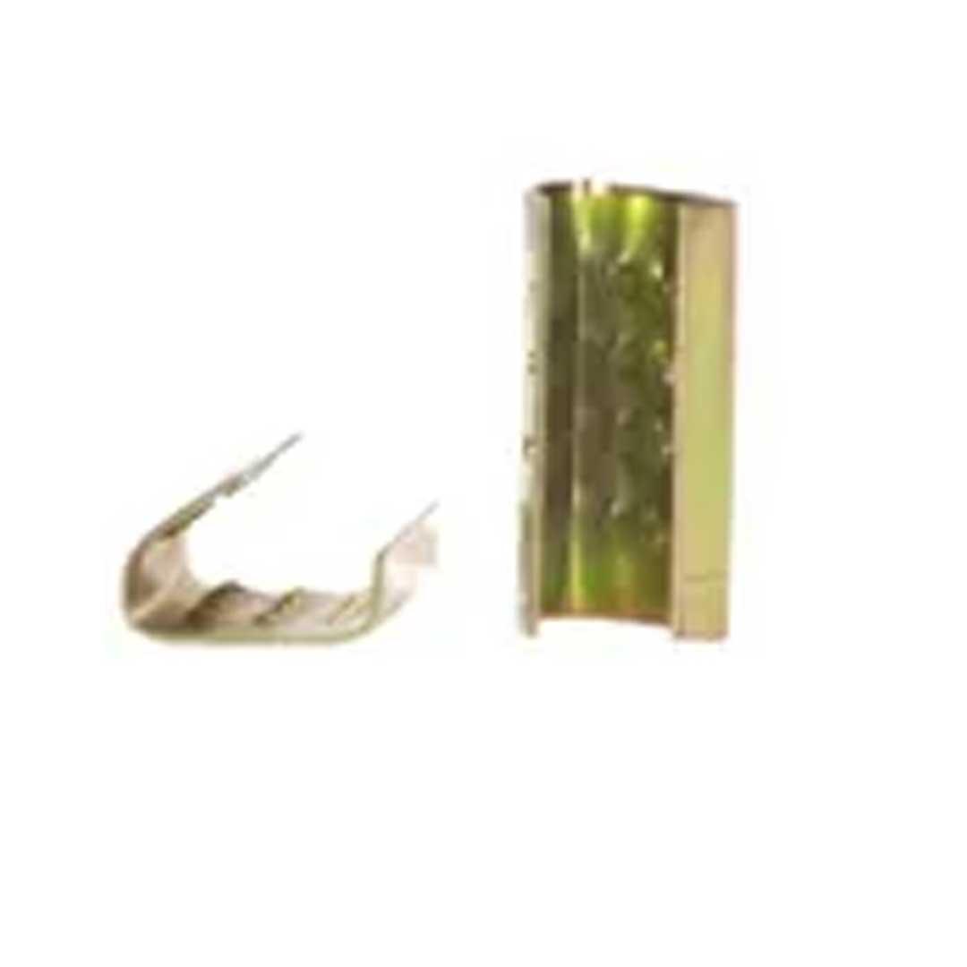Grampo Selo P/ Fita Plastica Preta 13MM 1KG (250PCS) - DIMEPLAST