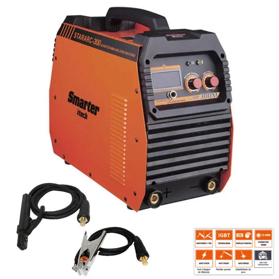 Inversora de Solda 275a StarArc-300M MMA/TIG Smarter 220 Mono/ 380V Trif