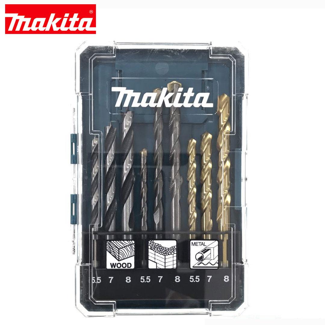 Jogo de Brocas Makita 9 pçs Concreto/ Madeira/ Metal D-71978