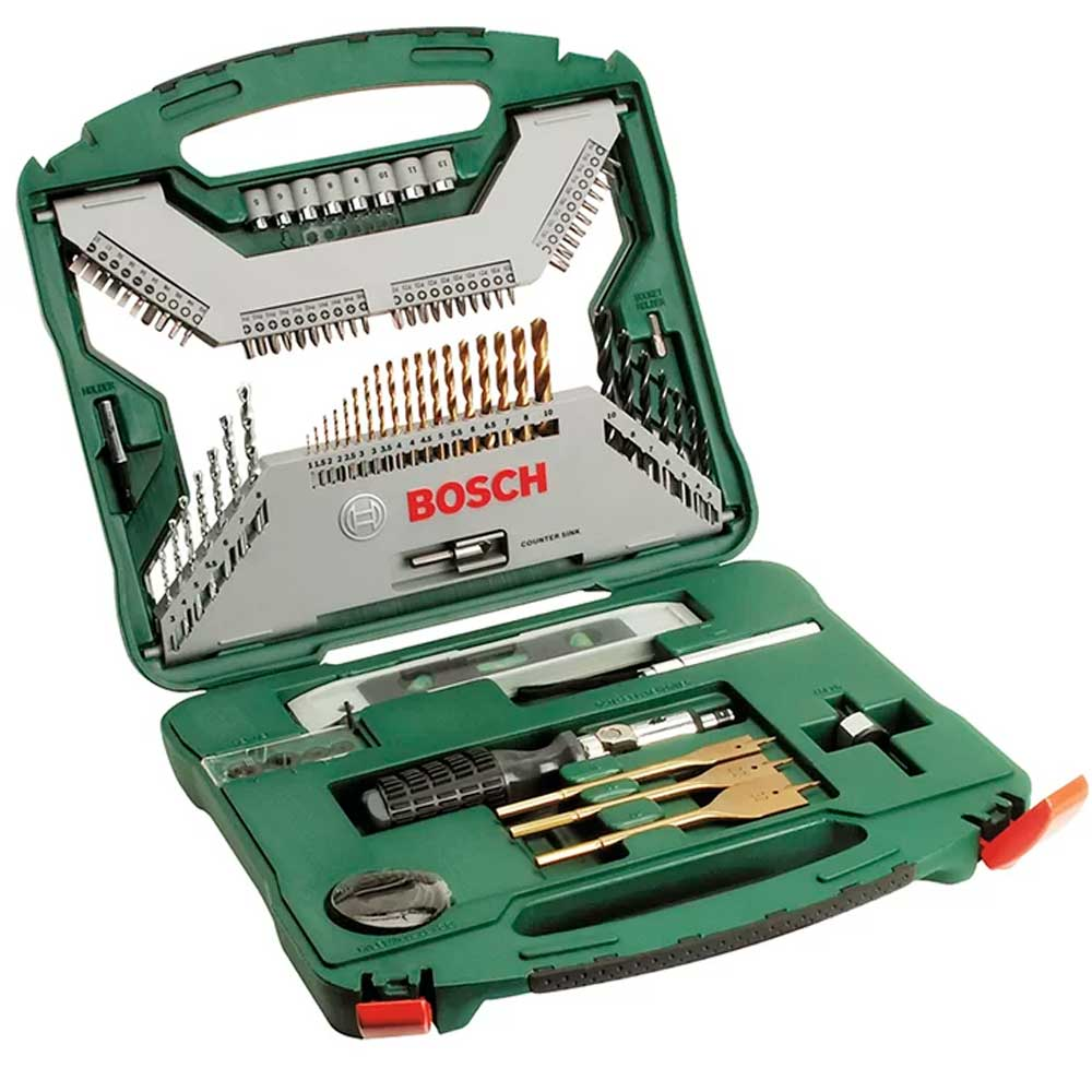 Jogo de Brocas, Nível e Bits Titanium X-Line Bosch - 100 Pç