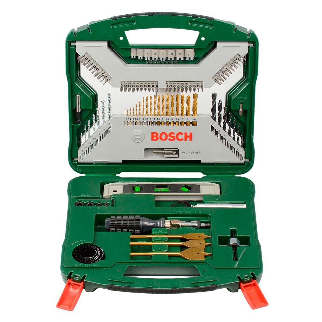 Jogo de Brocas e Bits Bosch X-Line 100 Peças - 2607019330