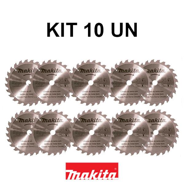 Kit 10 Disco de Serra Circular 185mm 24 dentes Makita STD D-51340