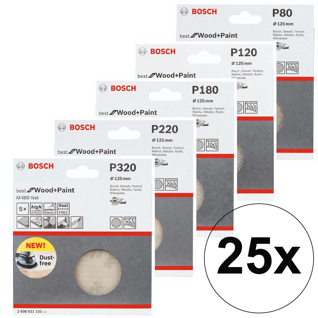 Kit 25pç Disco de Lixa com Velcro 5