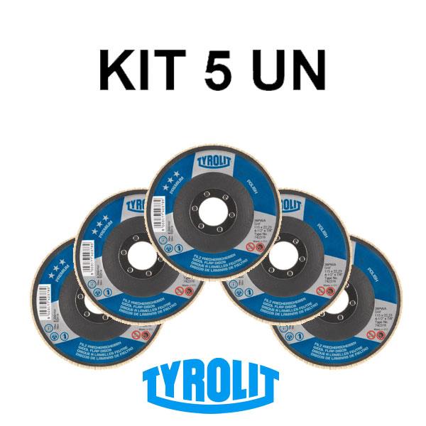 Kit 5 Disco Feltro P/ Polimento Espelhado Premium Polish Shf 742378- TYROLIT