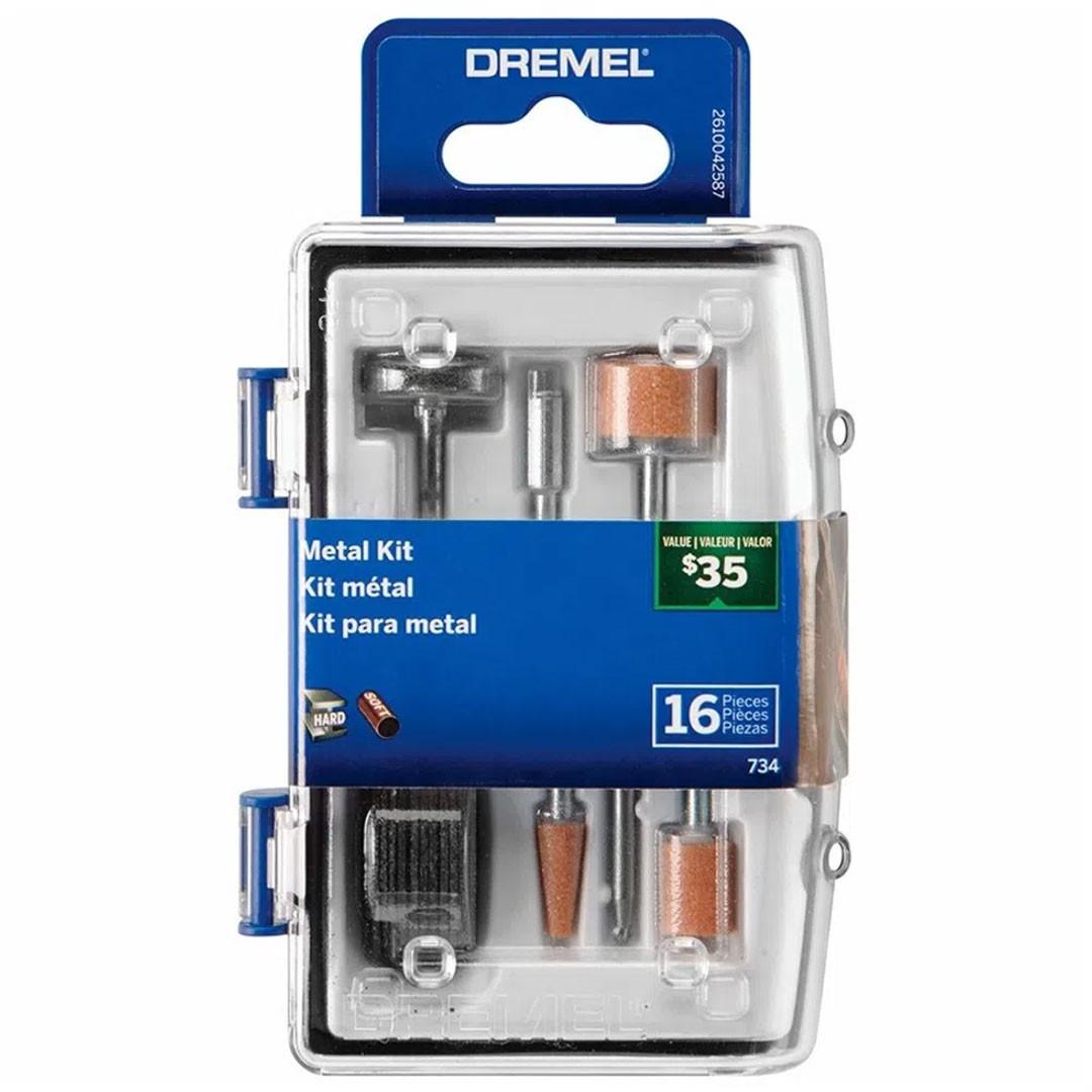 Kit Acessórios Metal Para Micro Retífica 16 Peças Dremel  734 - 26150734AB