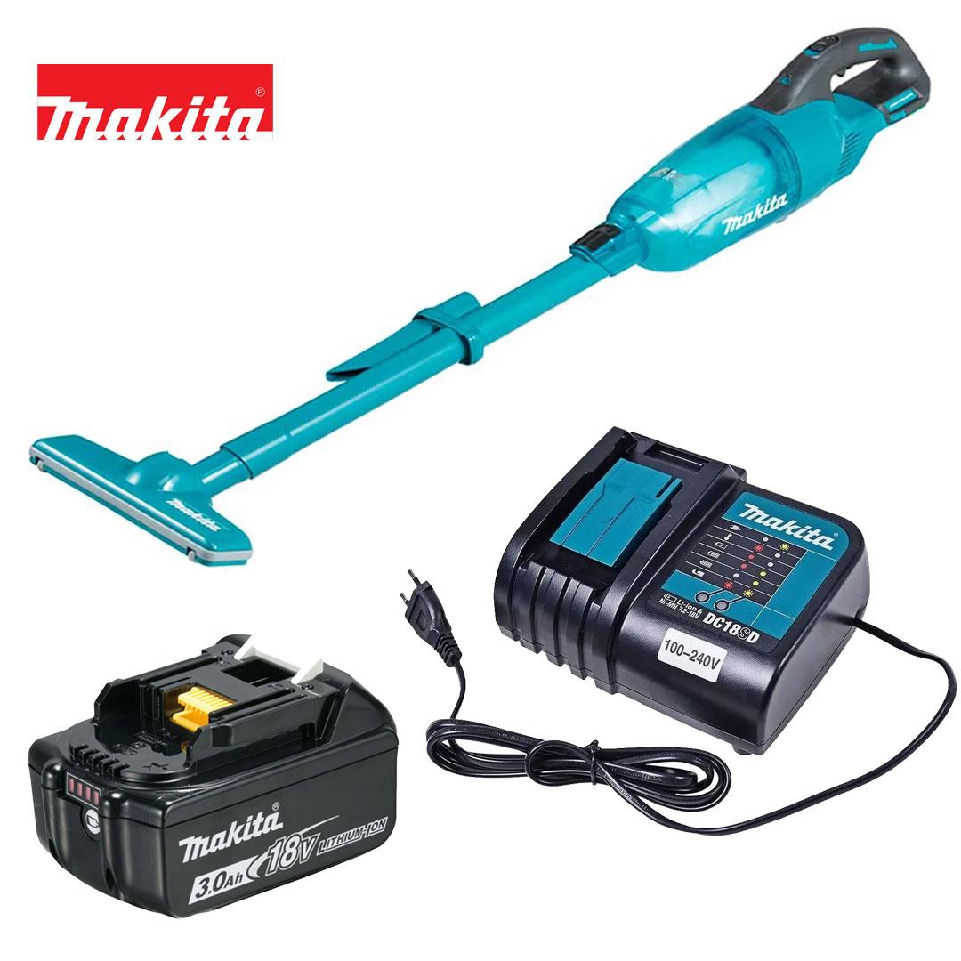 Kit Aspirador 18v DCL280FZ + Bateria 3AH BL1830B + Carregador DC18SD Bivolt - Makita