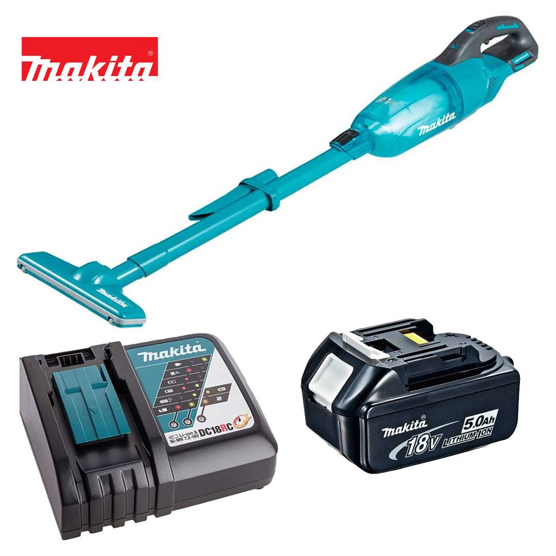 Kit Aspirador 18v DCL280FZ + Bateria 5AH BL1850B + Carregador DC18RC Bivolt - Makita
