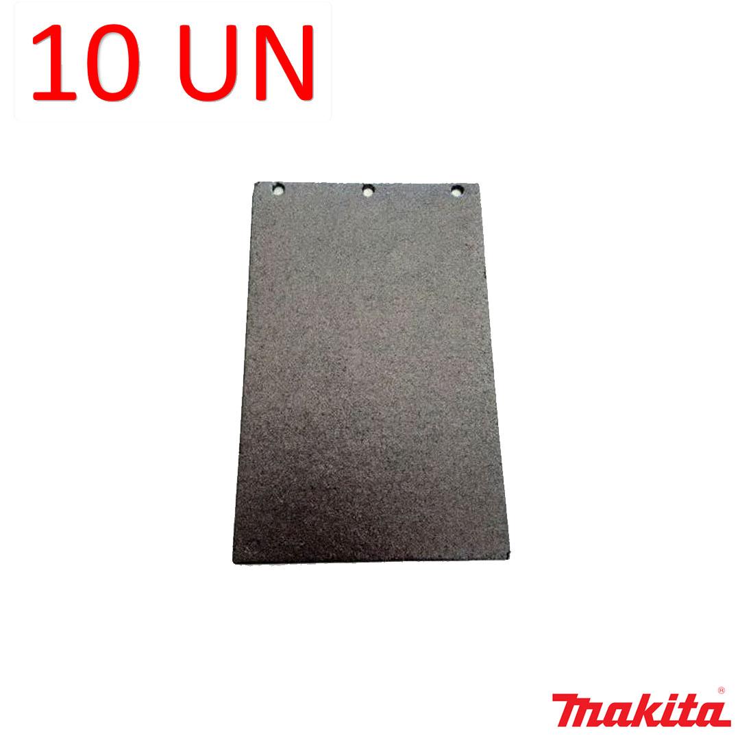 Kit com 10 Bases Feltro Grafitado Lixadeira Cinta 105x165mm - Makita